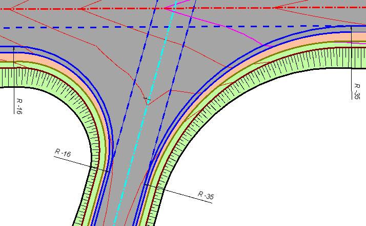 Рис. 4. Приклад вертикального планування примикання