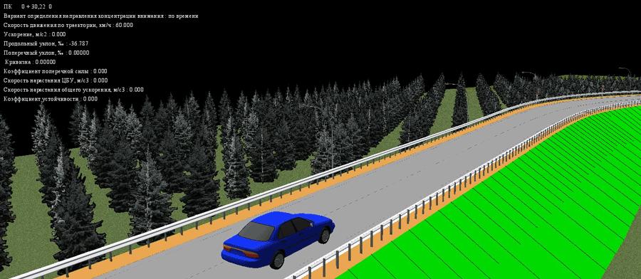 Рис. 16. Перегляд 3D-виду і параметрів руху