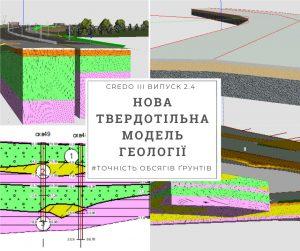 Нове в геологічному напрямку комплексу CREDO 2.4